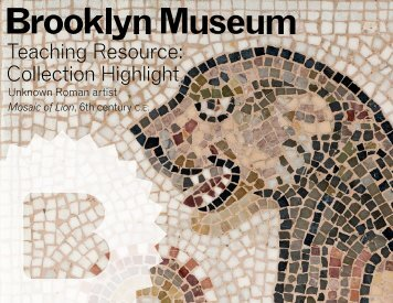 Mosaic of Lion - Brooklyn Museum