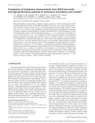 Comparison of turbulence measurements from DIII-D low-mode and ...
