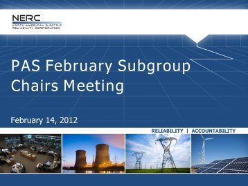 PAS February Subgroup Chairs Meeting - NERC