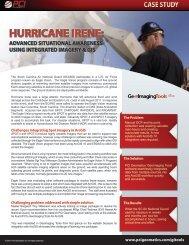 hurricane irene: advanced situational awareness ... - PCI Geomatics