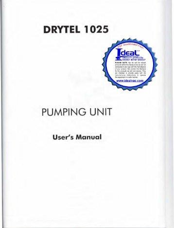 Alcatel adixen pfeiffer drytel 100 drytel 100c instruction alcatel adixen pfeiffer drytel 1025 users service instruction sciox Images