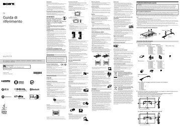 Sony KDL-42W815B - KDL-42W815B Guide de référence Italien