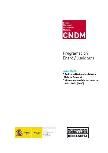 Series 20/21 Auditorio Nacional de Música (Sala de Cámara)