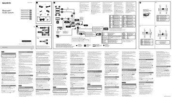 Sony MEX-N6001BD - MEX-N6001BD Guide d'installation