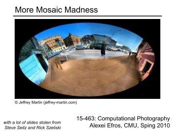 Computer Vision: Mosaics
