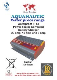 Waterproof IP 68 Power Factor Corrected Battery Charger 20 amp ...