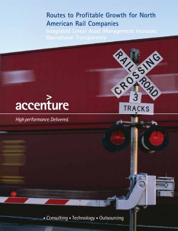 Routes to Profitable Growth for North American Rail Companies
