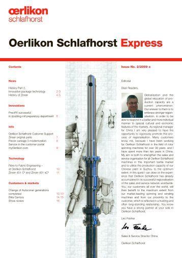 Oerlikon Schlafhorst Express - Oerlikon Schlafhorst - Oerlikon Textile