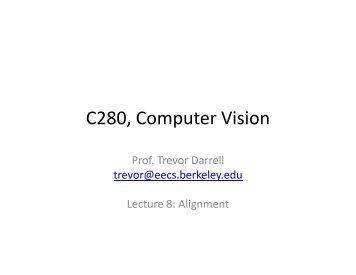 C280, Computer Vision