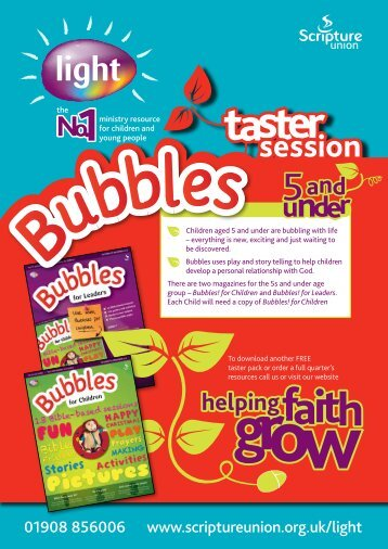 Bubbles taster session - Scripture Union