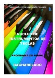 PROGRAMA DO NÚCLEO DE PIANO - Fames