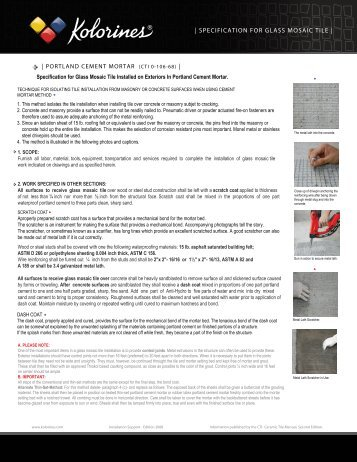 Specification For Glass Mosaic Tile Installed On Exteriors