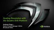 Scaling Resolution with the Quadro SVS Platform - Nvidia