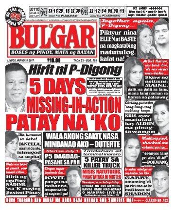 June 18, 2017 BULGAR: BOSES NG PINOY, MATA NG BAYAN