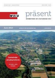 Gemeinde- strukturreform Juni 2012 - Weiz
