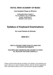 Syllabus of Keyboard Examinations - Togher Music School