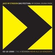 Programm Jazz im Stadion 2008