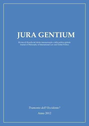 L'Occidente - Jura Gentium