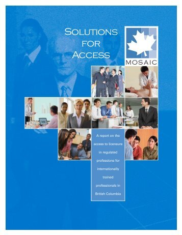 Improving Access to Licensure - BC Internationally Trained ...