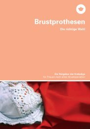 Brustprothesen - Krebsliga Schweiz