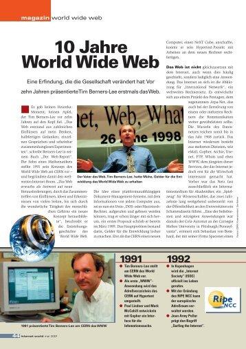 10 Jahre World Wide Web - Internet World Business