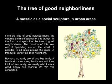 The tree of good neighborliness - Mosaicked Berlin
