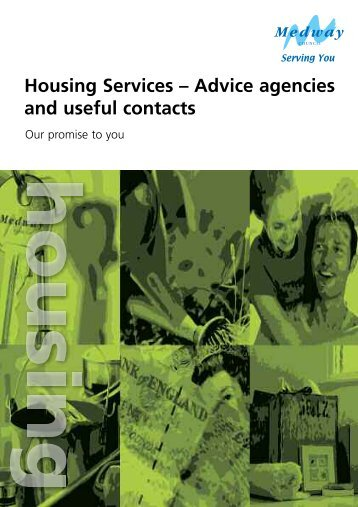 Advice agencies and useful contacts - Medway Council