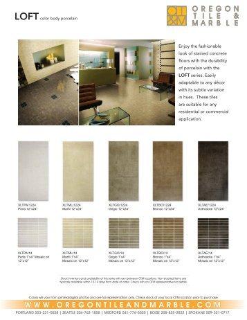 Loftcolor Oregon Tile Marble