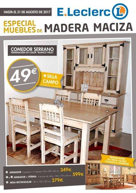 E Folleto De Madera leclerc Maciza Muebles Especial EHYWID29