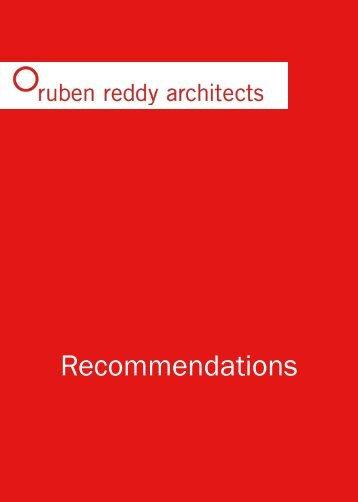 Ruben Reddy Architects - Recommendations