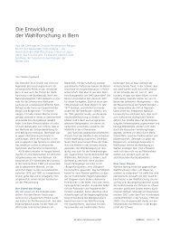 Die Entwicklung der Wahlforschung in Bern. (pdf ... - Universität Bern