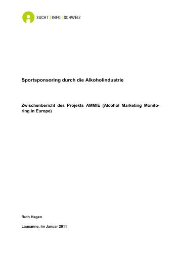 Sportsponsoring durch die Alkoholindustrie - Sucht Schweiz