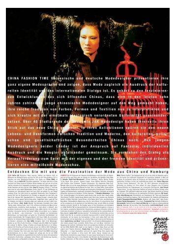 china fashion time chinesisch-deutsche modenschau - Akademie JAK