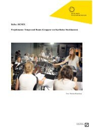 Konzept - Berliner Philharmoniker