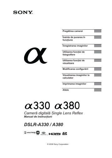 Sony DSLR-A330Y - DSLR-A330Y Mode d'emploi Roumain