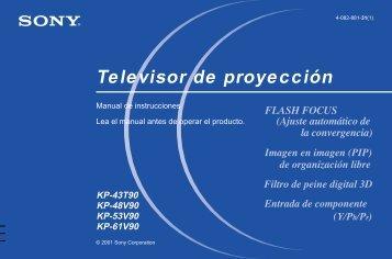 Sony KP-43T90 - KP-43T90 Consignes d'utilisation Espagnol