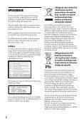 Sony BDP-S6200 - BDP-S6200  Serbe - Page 2