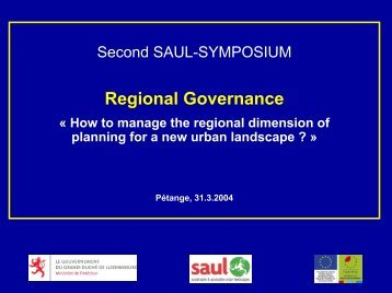 « Presentation of the South region » Regional Governance