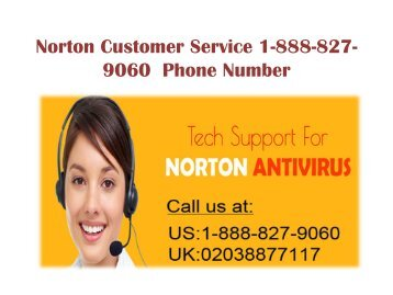 Norton Customer Service 1-888-827-9060 Phone Number