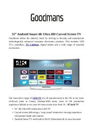 """55"""" Android Smart 4K Ultra HD Curved Screen TV"""