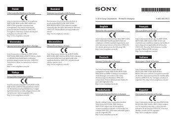 Sony BDP-S6200 - BDP-S6200 Dépliant Roumain