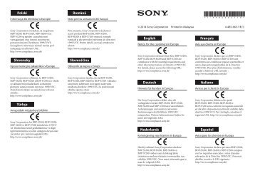 Sony BDP-S6200 - BDP-S6200 Dépliant Slovénien