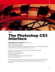 The Photoshop CS3 Interface - Adobe Photoshop for Photographers