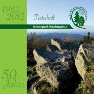 Jubiläum Naturpark Hochtaunus feiert 50-jähriges Zu diesem