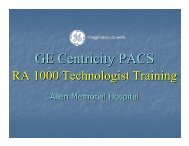Ge Centricity PACS User Training - Js Cafe