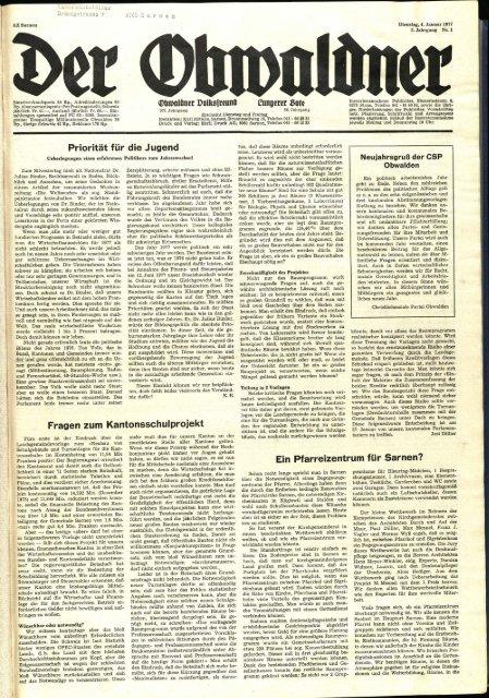 Obwaldner Volksfreund 1977
