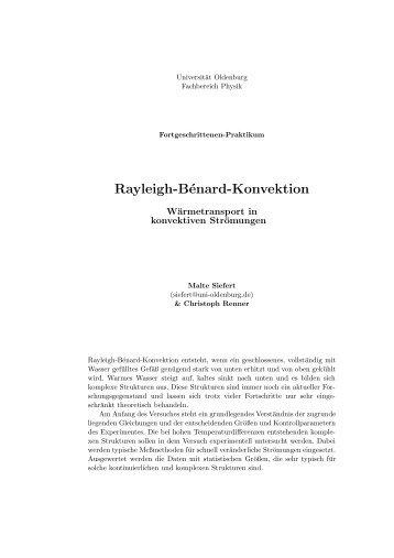Rayleigh-Bénard-Konvektion