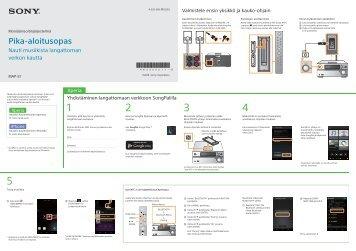Sony MAP-S1 - MAP-S1 Guide de mise en route Finlandais