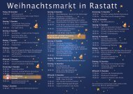 Weihnachtsmarkt in Rastatt - Stadt Rastatt