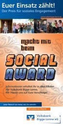 Social Award - Volksbank Bigge-Lenne eG